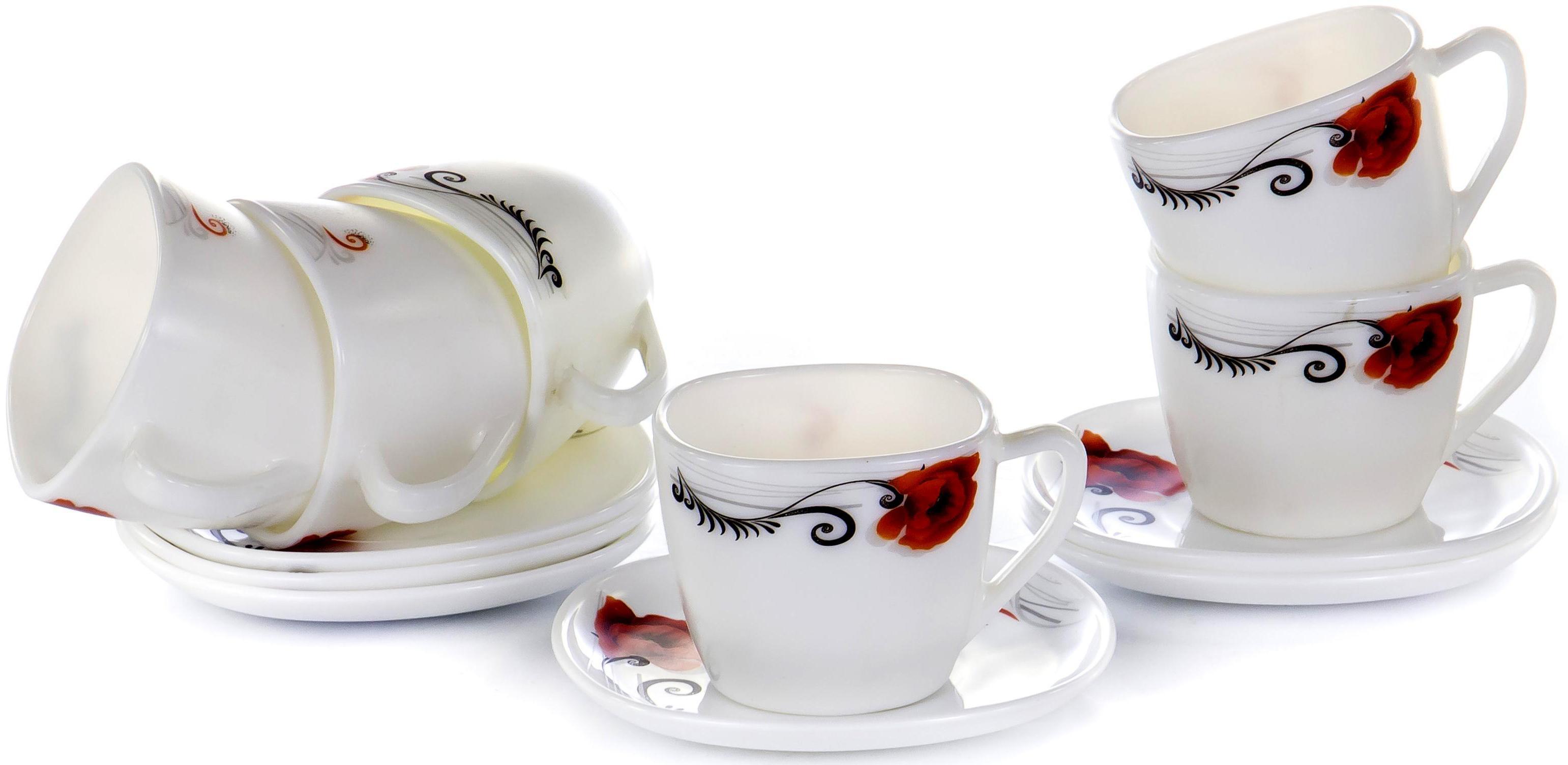 Набор чайный «МАК» 230 мл, 12 предметов