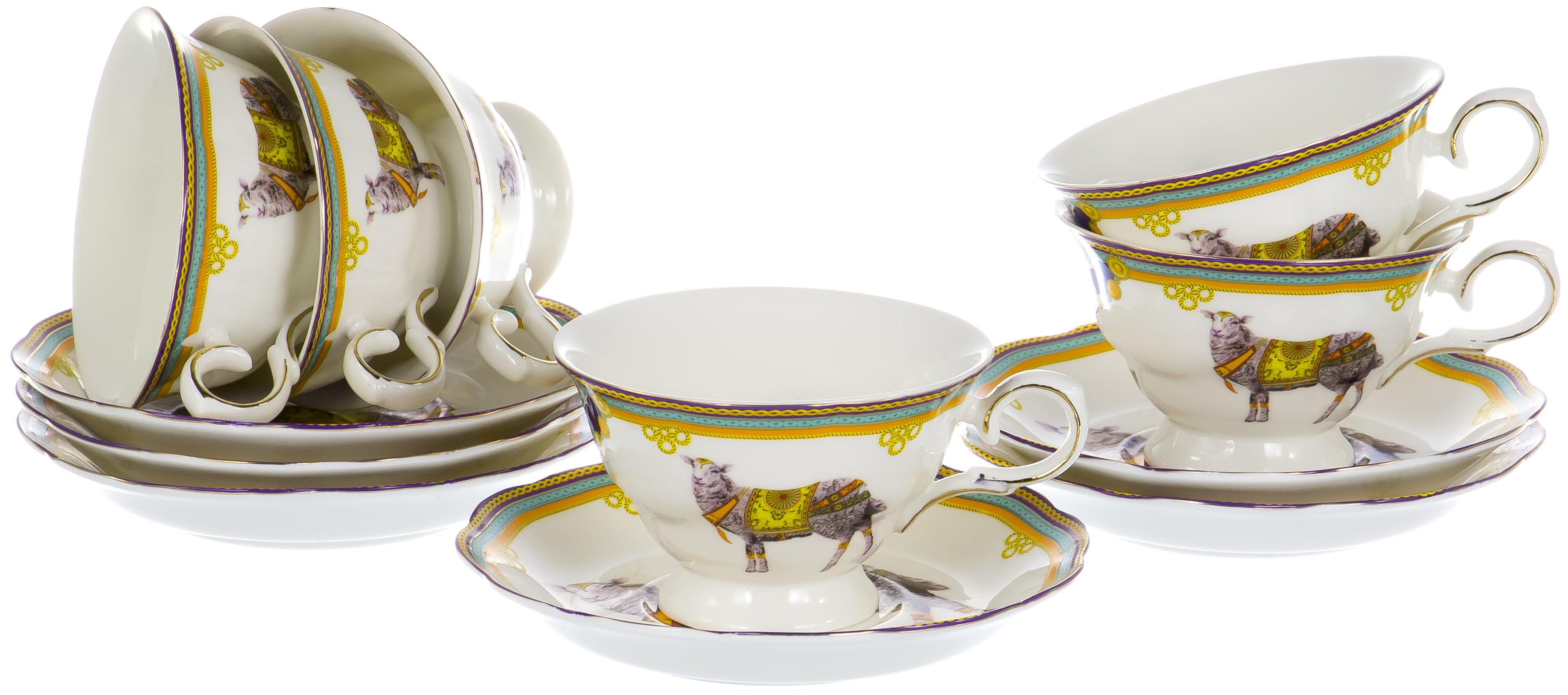 Набор чайный Jade 200 мл, 12 предметов